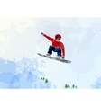 Snowboarder at jump inhigh mountains vector image vector image