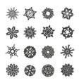 snowflake christmas winter symbol vector image
