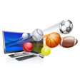 sports computer app concept vector image vector image