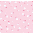 Spring seamless pattern pink with flowers sakura vector image