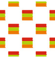 stack of colored towels pattern flat vector image vector image