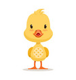 sweet yellow duckling emoji cartoon character vector image vector image