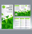 tri-fold brochure corporate business template vector image vector image