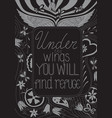 under wings you will find refuge vector image vector image