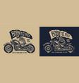 vintage motorcycle label vector image vector image