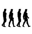 Walking Man Animation Sprite vector image vector image