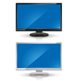 wide screen lcd monitors vector image vector image