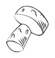 wine cork cartoon vector image vector image