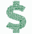 word cloud business concept dollar sign from text vector image