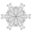 Zentangle elegant snow flake ornamental winter for vector image vector image