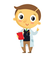 Kid doctor cartoon character isolated on white vector image