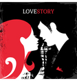 Love Story silhouette of couple vector image