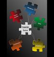 Puzzle teamwork vector image
