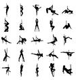 Stripper silhouette set vector image