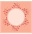 pink card with floral ornament vector image