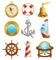 sailing icons vector image