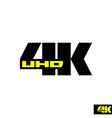4k sign label TV emblem vector image