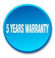 5 years warranty vector image vector image
