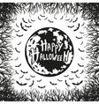 abstract inscription Happy Halloween vector image vector image