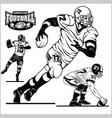 american football players in action isolated on vector image