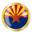 arizona flag button vector image vector image