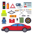 auto car repair service symbols isolated shop vector image