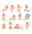 baby and emotions collection vector image vector image