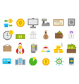 Banking isolated icons set vector image vector image