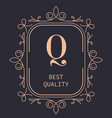 best quality logotype for luxury brand with vector image