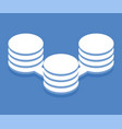 big data processing icon vector image