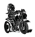 black biker pattern on white background vector image