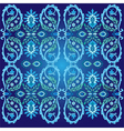 blue ottoman serial patterns two vector image vector image