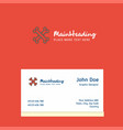 bones logo design with business card template vector image