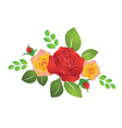 bouquet of summer roses vector image