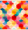 bright color mosaic seamless pattern vector image vector image