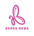 butterfly initial ab logo creative concept vector image vector image