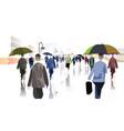 city rain vector image