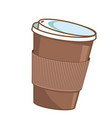 coffee cup paper coffee cup to go vector image vector image