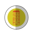 color image middle shadow sticker in circle with vector image vector image