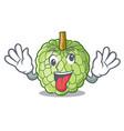 crazy ripe sugar apple fruit on mascot vector image vector image