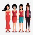 cute women avatar icon vector image vector image