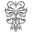 decorative drawing on white background vector image vector image