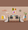 dinning room interior with furniture vector image
