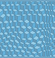 distorted cubes 3d pattern blue seamless design vector image