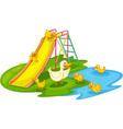 ducks in a park vector image vector image