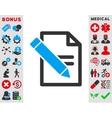 Edit Records Icon vector image vector image