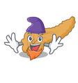 elf pancreas character cartoon style vector image