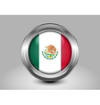 Flag of Mexico Metal and Glass Round Icon vector image vector image