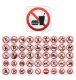 forbidden icons vector image vector image
