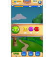 gampeplay intro mobile game user interface gui vector image vector image